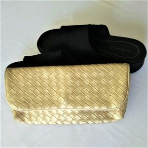 Gold Estee Lauder Make Up Bag